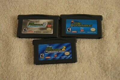 Disney's Kim Possible 1, 2 and 3 (Nintendo Game Boy Advance) Gameboy