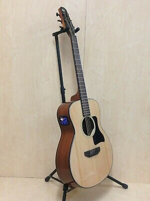 Caraya 210EQ Arch-Back Spruce Top Parlor Travel Guitar,EQ+ HD Canvas Bag,Strings