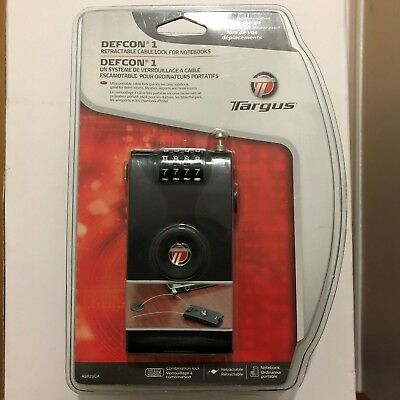 New Sealed Targus Defcon 1 Retractable Cable Lock  Laptop Anti Theft