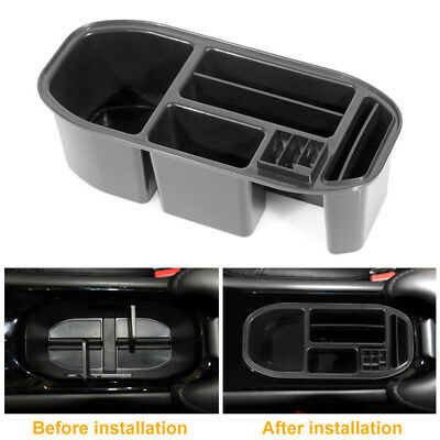 Car Water Cup Holder Storage Box Container Tray Fits For Honda Vezel HR-V Black