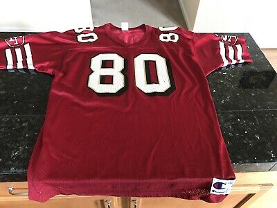 half off abb25 d5eb5 JERRY RICE SAN Francisco 49ers Champion Jersey Retro Throwback #80 Red Sz 48