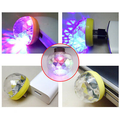 USB Mini Disco Light Ball Portable Led Karaoke KTV Party Decor Lamp DJ StageBar