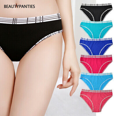 91336db4cc97 6,12 Pack Women's Hipster Underwear Soft Cotton Low Rise Panties for  Everyday