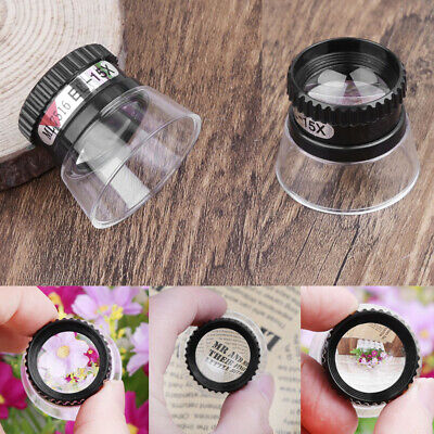 15X Monocular Magnifying Glass Loupe Lens Map Magnifier Mini Jewelry Repair Tool