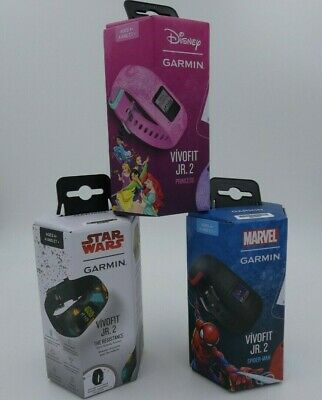 Garmin Vivofit Jr 2 Kids Activity Tracker Wristband Star Wars or Disney NEW