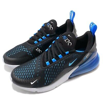 NIKE AIR MAX 270 Liquid Metal Black Blue Fury Men Running Shoes AH8050 019