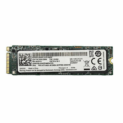 LENOVO 512GB SSD M 2 Solid State Drive 2280 00UP471 PCIe 3 0 x4 NVMe F/  Thinkpad
