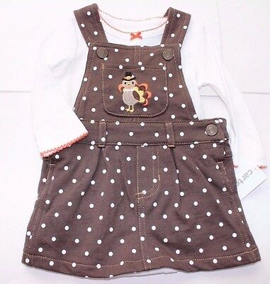 082e562975d0 NWT CARTER S THANKSGIVING Turkey Jumper Bodysuit Outfit Set 2PC Baby ...