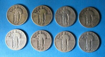 $2.00 Face Value - Mixed Date Standing Liberty Quarters - U.S. 90% Silver