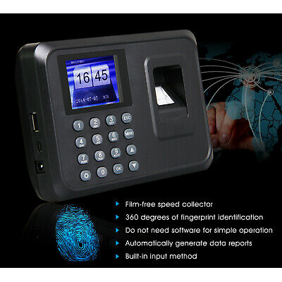 A6 Password Fingerprint Time Clock Office Employee Attendance Recorder Machine