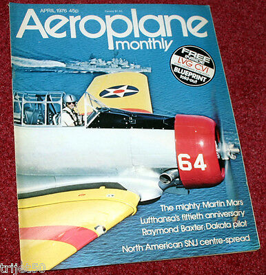 Aeroplane Monthly Magazine 1976 April Mars,Lufthansa,Irish Air Corps Seafire