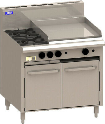 LUUS Essentials 2 Burner 600mm Griddle & Oven Pilots & Flame Fail CRO-2B6P-P NG