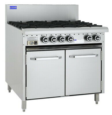LUUS Essentials 6 Burner & Oven W/ Pilots & Flame Failure CRO-6B-P LPG