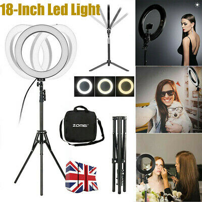 "Zomei 18"" LED Ring Light Dimmable Studio Stand Fill Lamp For Youtube Live Photo"