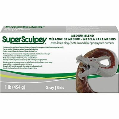 Sculpey Ssmed1 Clay, Grey, Medium - Super Blend Clay 1lbgray Pound 454gr Oven