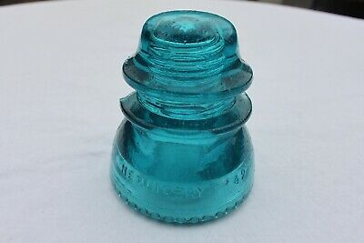 Antique Aqua Blue Industrial Glass Insulator - Hemingray 42 (Ornament/Light)