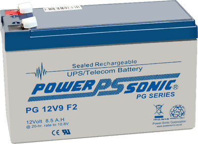 PG12V9 12V 8.5AH Rechargeable VRLA Battery 6-FM-7 (12V7AH/20HR) NON-SPILLABLE