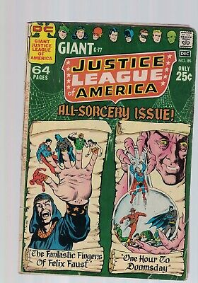 DC Comics Justice League of America no 85 Dec 1970 All-Sorcery Giant G-77 Issue!
