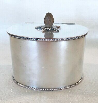 Sheffield Silver Plated Tea Box or Biscuit Box English 19th Century