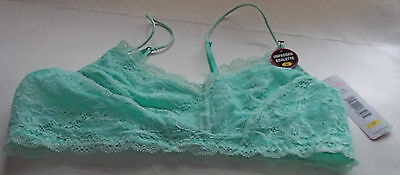 6712e09bbbff2 H.DEW ALLIE LACE Racer Bralette 590021B Electric Peach Pink Large ...