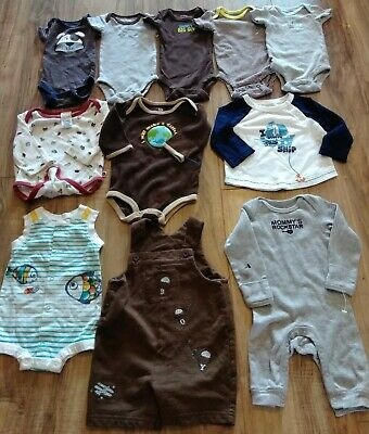 2aeec2203 LOT OF 7 Baby Boys Gerber Clothes Bodysuit Shirt Size 3-6 Months ...
