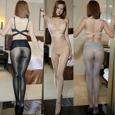 7a68adcc1c254 New 360° Seamless High waist Ultra Shiny Glossy Sheer Stockings Tights  Pantyhose