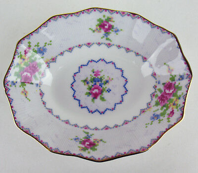 Oval Fluted Candy Dish Royal Albert Petit Point vintage bone china England