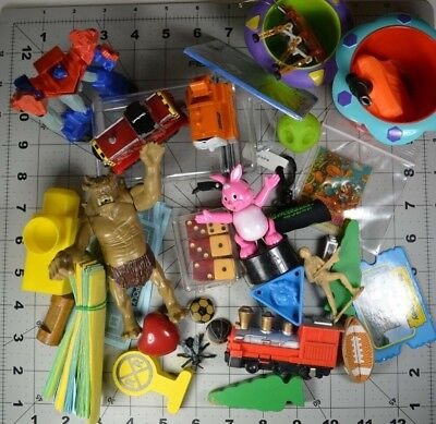 Vintage Junk Drawer lot knick knacks mixed collection toys Trains Game Parts etc
