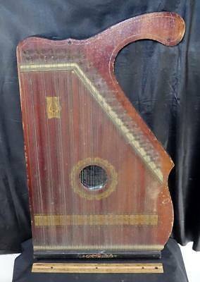 Antique Decorated Mandolin Guitar Harp Zither American Music Co. Instrument !