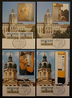 Diverse Philatelie Berlin Atm Mk 1987 11 Werte 4 Maximumkarten Carte Maximum Card Mc Cm A9257