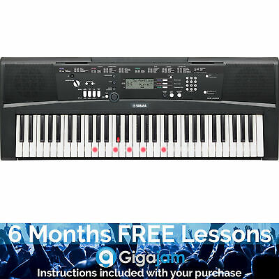 Yamaha EZ220 Portable Digital Keyboard with 6 Months Free Online Music Lessons