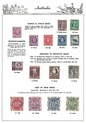 Australia Predecimal Mint & Used Seven Seas Sheet