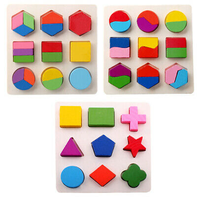 Baby Wooden Geometry Educational Toys Puzzle Montessori Early Learning Toys GIFT