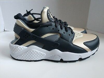 6f6ab3c0876a5 Nike Air Huarache Womens Running Shoes Oatmeal Anthracite Cool Grey Sz 8