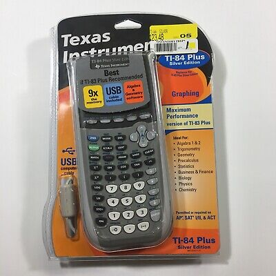 TEXAS INSTRUMENTS TI-84 Plus Silver Edition Graphing Calculator Used