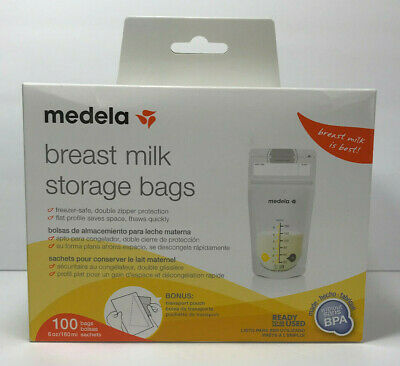 Medela Breast Milk Storage Bags Baby Food 100ct Disposable Breastmilk - BPA Free