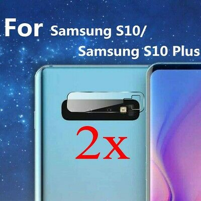2x For Samsung  S10 Plus S10 E Back Camera Lens Screen Tempered Glass Protector