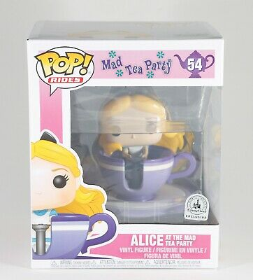 Funko Pop Rides Alice Mad Tea Party Spinning Teacup Disney Parks Exclusive #54