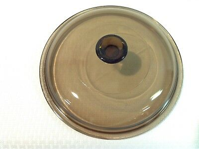 PYREX Glass Replacement Lid for Corning Ware Visions Amber V-1.5-C