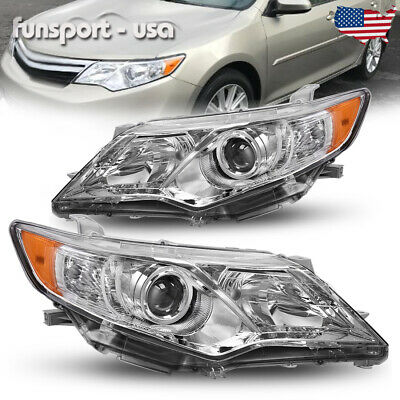 Headlights Assembly for 2012-2014 Toyota Camry Projector Headlamps Left+Right