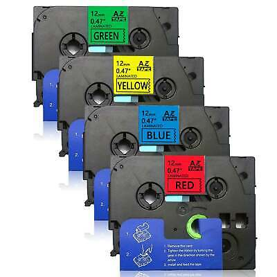 4PK Label Tapes TZe431-TZe731 12mm colorful Compatible Brother p-touch PT-1890C