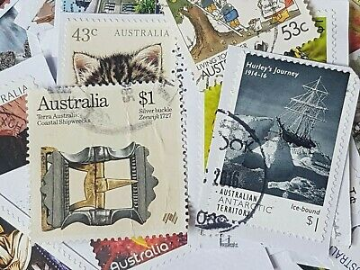 (Lot g) 100+ bulk used stamps Australian 60c to $2 high value min duplication