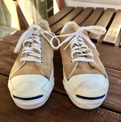 1ec0c092e04d VINTAGE SUEDE CONVERSE Jack Purcell Shoes Size 4.5 6 994 Made in USA ...