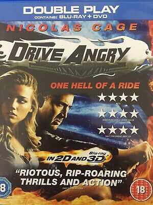 Drive Angry - Bluray + Dvd 2011 As New!