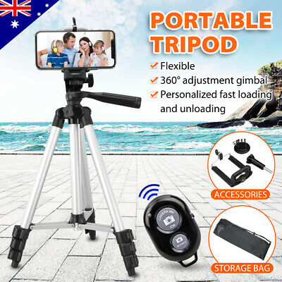 Universal Professional Camera Tripod+Bluetooth Remote Control For iPhone Samsung