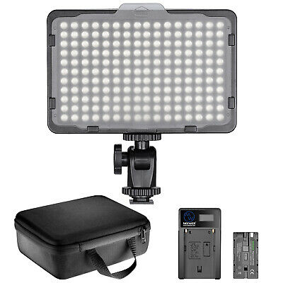 Neewer 176 LED Luz de Video Iluminación Kit Regulable con Batería 2600mAh