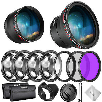 Neewer 52mm Kit Accesorios Lente y Filtro para Nikon AF-S DX 18-55mm y Canon