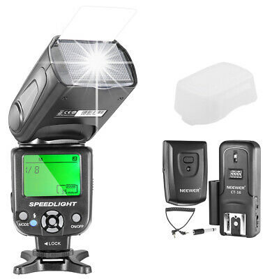 Neewer NW-561 GN38 Manual Pantalla LCD Speedlite Flash Kit para Canon Nikon