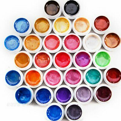 31 de vente Mix couleur UV Pure solide Builder Gel acrylique pour Nail Art Tip