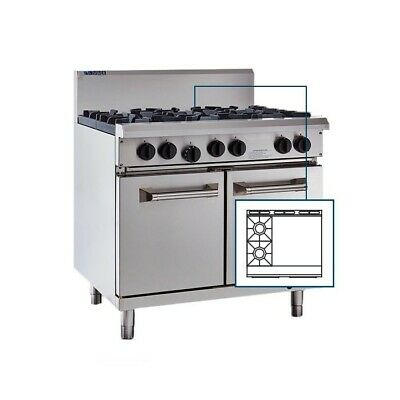 LUUS Professional 2 Burner 600mm Griddle & Oven ,Pilots Flame Fail RS-2B6P-P LPG